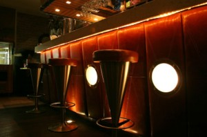 Stools at a Bar